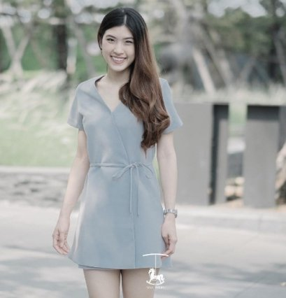 Style Syrups Diana Dress - Dust Blue