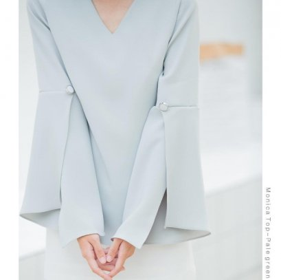Kanni Monica Top - Pale Green