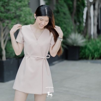 Style Syrups Diana Dress - Nude Pink