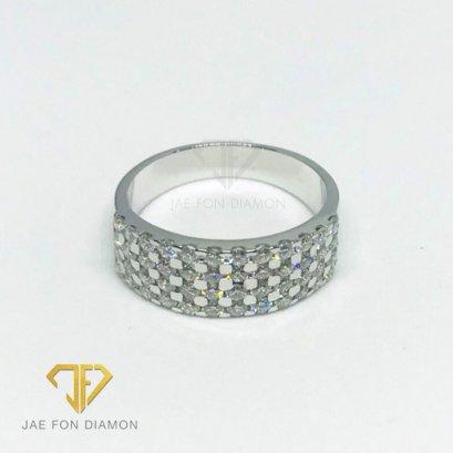 แหวนเพชรเบลเยี่ยมแท้ น้ำ98 ทองคำขาว