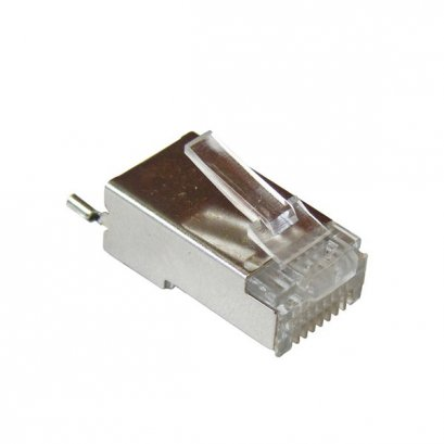 TC-CON : RJ45 Connector, SHIELDED WITH DRAIN WIRE TAB 100pcs / กล่อง