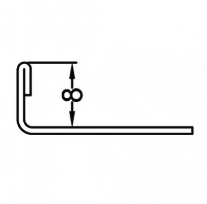 Stainless Steel Straight Trim 8 mm., 2.5 Meters