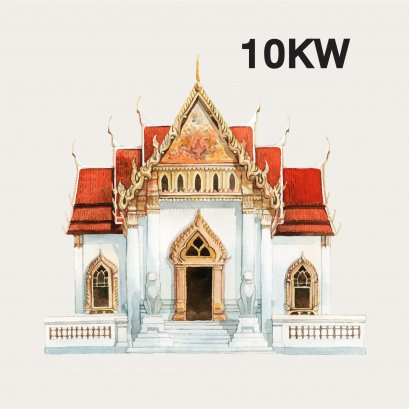 SOLAR ROOFTOP 10KW for TEMPLE