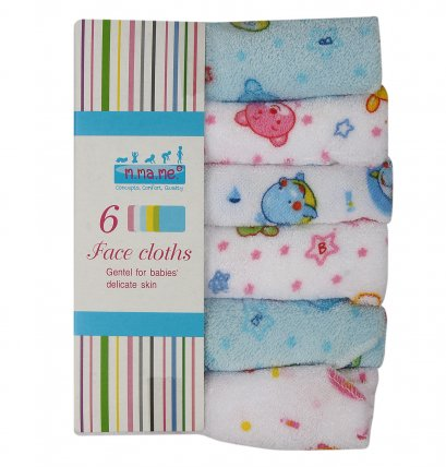6 Pack m.ma.me. Cotton Hand & Face cloths