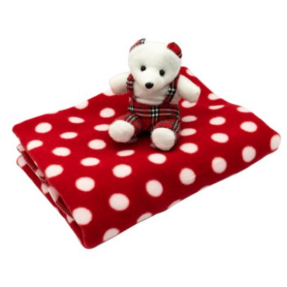 Fleece Blanket with toy