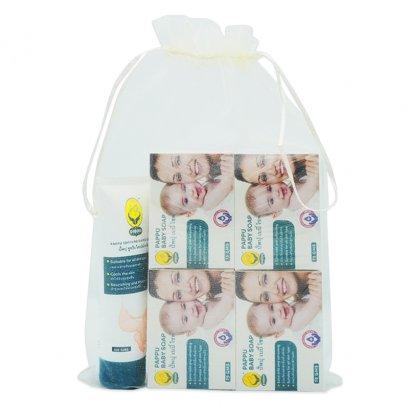 5 pcs set baby soap and nappy cream