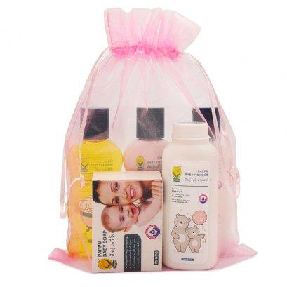 5 pcs set, baby soap, powder, shampoo, baby head to toe, lotion (small)