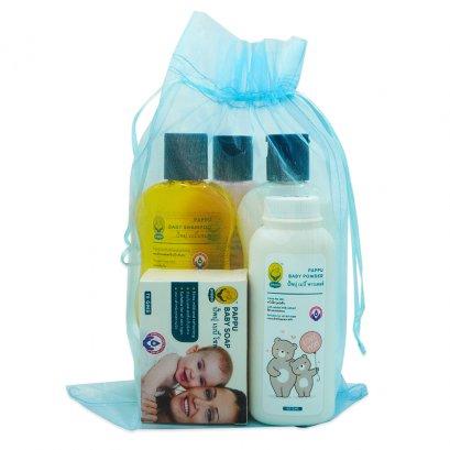 5 pcs set, baby soap, powder, shampoo, baby head to toe, lotion (large)