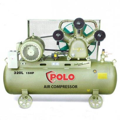 ปั๊มลมสายพาน POLO SGJ3100-320 ขนาด 320 ลิตร (15HP)