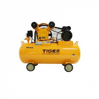 ปั๊มลมสายพานถัง 70 ลิตร TIGER TGA2-70M 1/2HP มอเตอร์ 1.5HP 220V