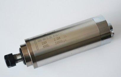 Spindle motor 2.2KW 4 Bearing ER20 Water