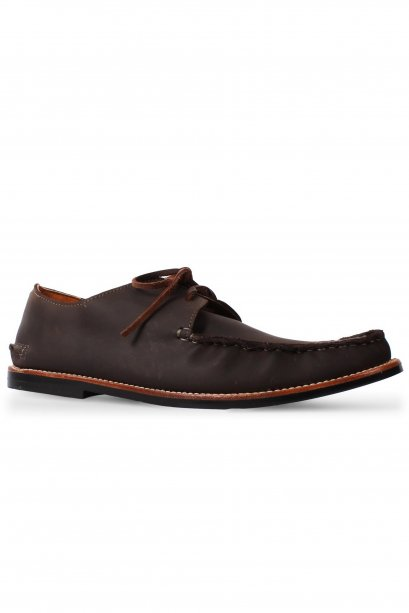 Chocolate Full Moccasin Lace Up