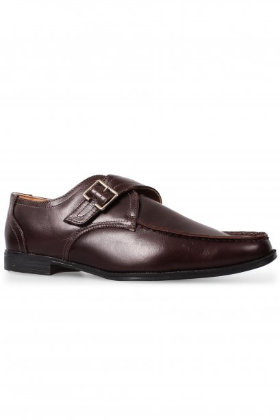 Brown Moccasin Monk Strap