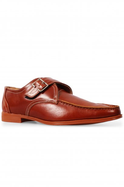 Tan Moccasin Monk Strap