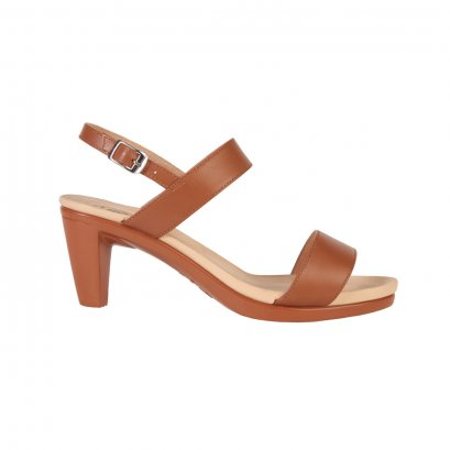 Tan Basic Strap High Heel