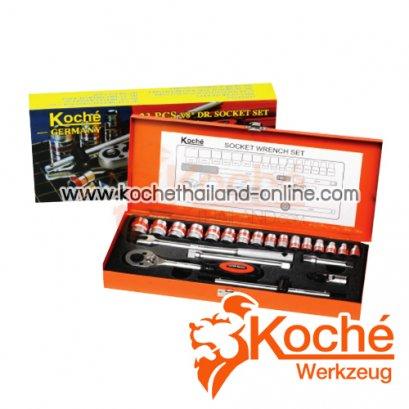 KCH026 บล็อกชุด 23 ตัว SQ-DR.3/8 นิ้ว