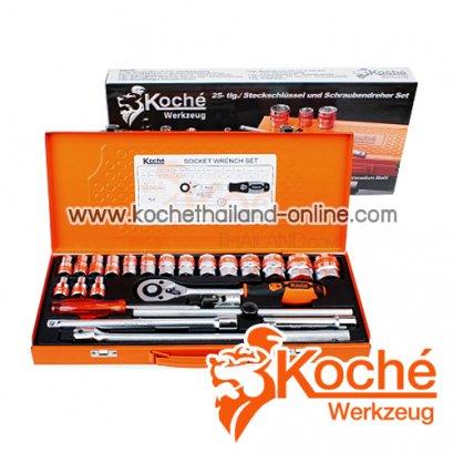 KCH033 บล็อกชุด 25 ตัว SQ-DR.1/2 นิ้ว