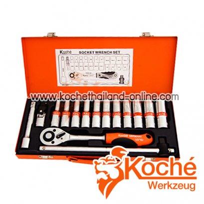"""KCH016 บล็อกชุดรุ่นยาว 16 ตัวชุด SQ.DR.1/2"""""""