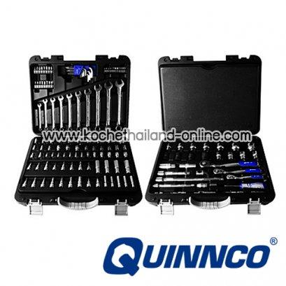 """QEA01202 บล็อกชุดพร้อมเครื่องมือช่าง 142 ตัว/ชุด SQ.DR. 1/4""""-3/8"""" และ 1/2"""""""