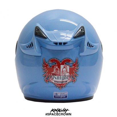 หมวกกันน็อคสเปซคราวน์ เปิดหน้า Knight สีฟ้า