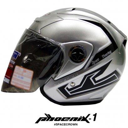 หมวกกันน็อคสเปซคราวน์ เปิดหน้า Phoenix-1 สีบรอนซ์