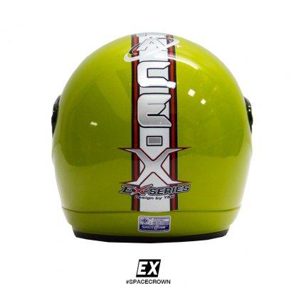 หมวกกันน็อคสเปซคราวน์ เปิดหน้า EX สีเขียว