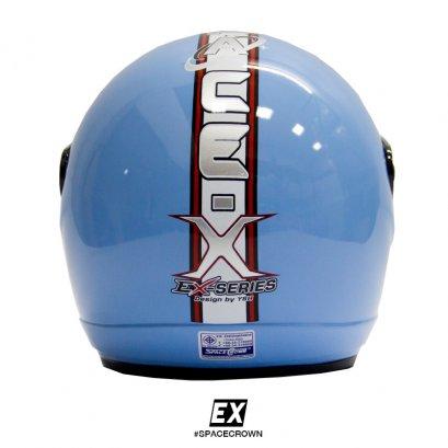 หมวกกันน็อคสเปซคราวน์ เปิดหน้า EX สีฟ้า