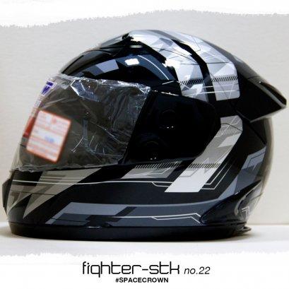 หมวกกันน็อคสเปซคราวน์ หุ้มคาง Fighter-STK ลาย no.22