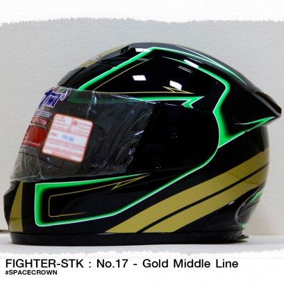 หมวกกันน็อคสเปซคราวน์ หุ้มคาง Fighter-STK ลาย no.17