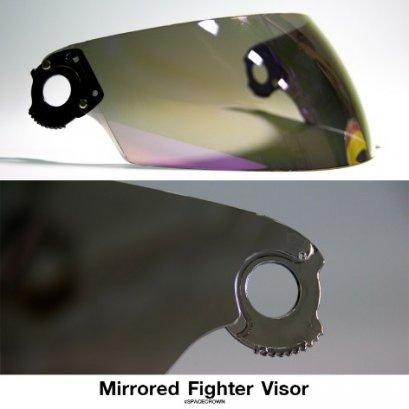 ชิลด์/หน้าแว่นอะไหล่ หมวกกันน็อค รุ่น Fighter-C, Fighter-STK สีปรอทเงิน-ปรอทรุ้ง