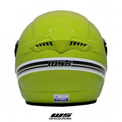 หมวกกันน็อคสเปซคราวน์ เปิดหน้า WS สีเขียว