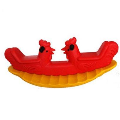 โยกเยกไก่แฝด- ของเล่นพลาสติก ของเล่นสนาม โยกเยก ไม้กระดก by Sealplay