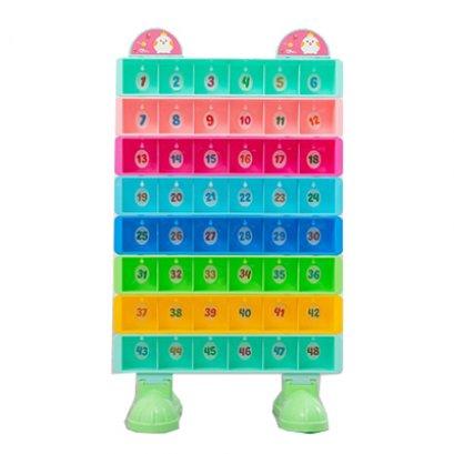 ชั้นวางแก้วน้ำสีรุ้ง 48 ช่อง-เฟอร์นิเจอร์เด็ก เฟอร์นิเจอร์โรงเรียน ชั้นวางแก้ว by Sealplay