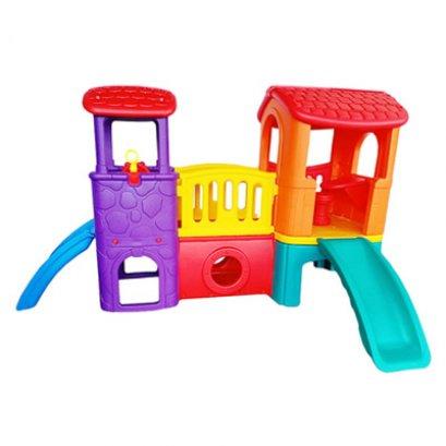 บ้านน้อย 2 ชั้น-ของเล่นพลาสติก ของเล่นสนาม บ้านกระดานลื่น สไลเดอร์ by Sealplay