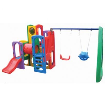 ชุดกระดานลื่นปีนป่าย+ชิงช้า- เครื่องเล่นสนาม ของเล่นสนาม บ้านกระดานลื่น สไลเดอร์ ชิงช้า by Sealplay