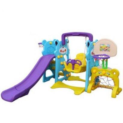 กระดานลื่นครอบครัวหมี 5 in 1- ของเล่นพลาสติก ของเล่นสนาม บ้านกระดานลื่น สไลเดอร์ by Sealplay