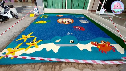 Sealplay พื้นเท ออกแบบพื้นสนามเด็กเล่น EPDM
