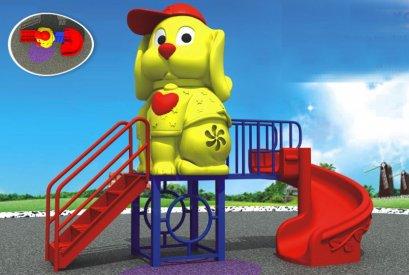 เครื่องเล่นสนาม C ชุดดอคกี้เอสสไลด์-เครื่องเล่นสนาม กระดานลื่น สไลเดอร์ by Sealplay