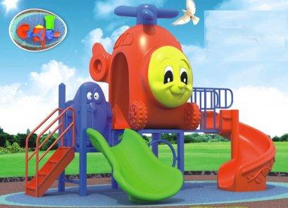 Sealplay สนามเด็กเล่น กระดานลื่น สไลเดอร์- เครื่องเล่นสนาม C ชุดคอปเตอร์เฟรนด์