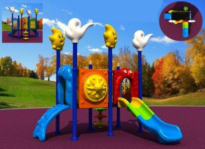 เครื่องเล่นสนาม A+ ชุดซีลแอนด์สกาย-เครื่องเล่นสนาม กระดานลื่น สไลเดอร์ by Sealplay