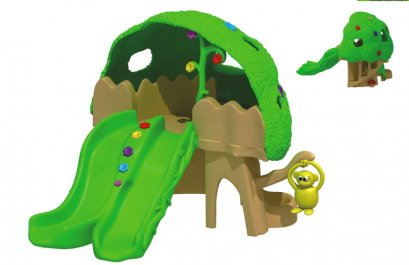 Sealplay สนามเด็กเล่น กระดานลื่น สไลเดอร์- เครื่องเล่นสนาม ชุดมังกี้ทรีเคฟ