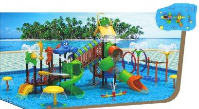 Sealplay สนามเด็กเล่น กระดานลื่น สไลเดอร์- เครื่องเล่นสนาม สวนน้ำ-ชุดเดอะลักซ์ซีชอร์วอเตอร์เวิลด์