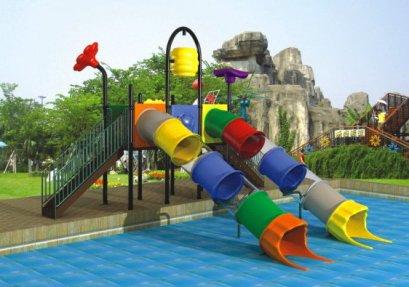 Sealplay สนามเด็กเล่น กระดานลื่น สไลเดอร์- เครื่องเล่นสนาม สวนน้ำ-ชุดดับเบิ้ลทิวบ์วอเตอร์สไลด์