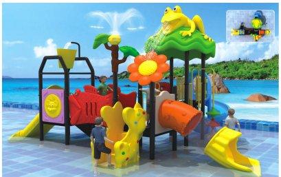 Sealplay สนามเด็กเล่น กระดานลื่น สไลเดอร์- เครื่องเล่นสนาม สวนน้ำ-ชุดฟร็อกวอเตอร์ทาวเวอร์แอนด์เฟรนด์