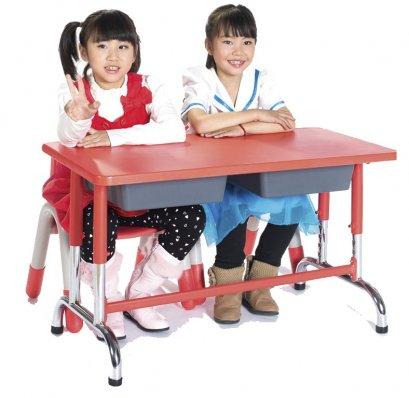 โต๊ะเรียนคู่ หน้าโต๊ะ ABS