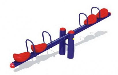 Sealplay ของเล่นสนาม ไม้กระดก 4 ที่นั่งแถวเดี่ยว