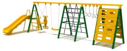 Sealplay เครื่องเล่นสนาม ของเล่นสนาม ชิงช้า กระดานลื่น ปีนป่าย ชุดชิงช้ากระดานลื่น 6 in 1