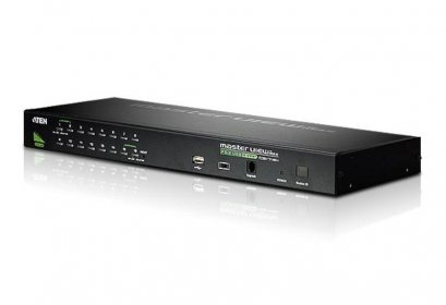 CS1716A 16-Port PS/2-USB VGA KVM Switch with Daisy-Chain Port and USB Peripheral Support