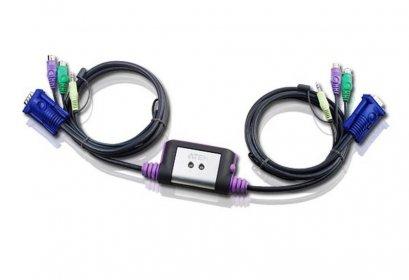 CS62A 2-Port PS/2 VGA/Audio Cable KVM Switch (1.2m)