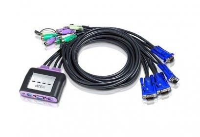 CS64A 4-Port PS/2 VGA/Audio Cable KVM Switch (1.8m)